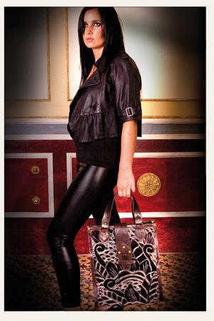 SU-SHI jacket - Zara pants - SU-SHI purse