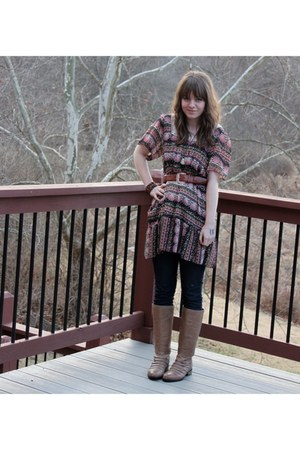 unknown dress - Urban Outfitters leggings - Very Volatile boots