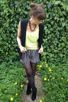 neon H&M vest - striped Primark shorts
