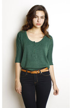 Green-knit-henley-swaychiccom-sweater