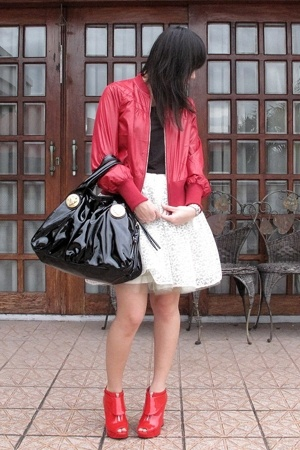 giordano jacket - top - Moonshine skirt - aliceolivia for Payless shoes - Gucci 