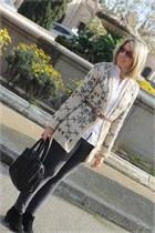 Chiara fashion cardigan - Mango boots - nice things leggings - hakei bag