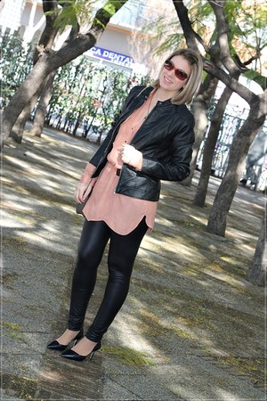 Zara dress - Pimkie jacket - Calzedonia leggings - Zara heels