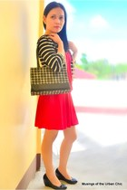 black Mendrez shoes - red Urban Dressing dress - black blazer