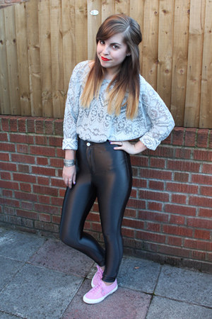black Glamorous leggings - silver Topshop jumper - bubble gum Superga sneakers