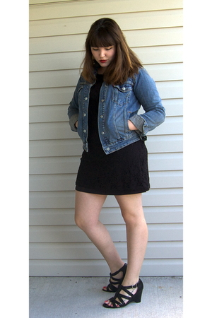 Levis jacket - unknown dress - Mootsie Tootsie via Ross shoes - Target earrings