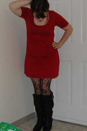forever 21 dress - forever 21 tights - Steve Madden shoes