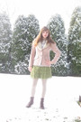 Pink-kirkland-hall-blazer-gray-hot-topic-t-shirt-green-forever-21-skirt-be