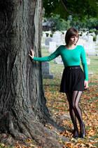 black striped leg avenue tights - black Forever 21 skirt