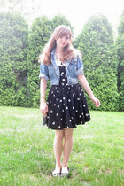 black Robbie Bee dress - blue Gap jacket - black payless shoes