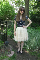 white petticoat Forever 21 skirt - black flats Payless shoes