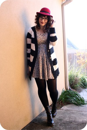 black Urban Outfitters cardigan - gray Urban Outfitters dress - black Target tig