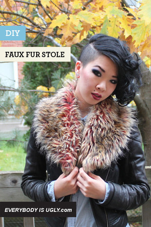 Peach-faux-fur-stole-scarf