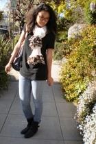 trouve shirt - Levis jeans - Bakers boots - Ethiopian scarf - vintage glasses -