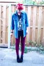 Black-creepers-new-look-wedges-crimson-velvet-primark-leggings