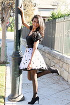 white polka dot vintage skirt