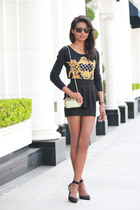 black peplum H&M skirt