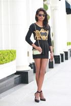 black peplum H&M skirt