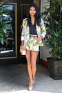 lime green tropical asos blazer - lime green tropical asos shorts