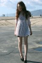 vintage dress - H&M dress - Bebe shoes - amazonecom sunglasses