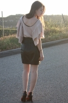 tam k shirt - vintage skirt - GoJane shoes
