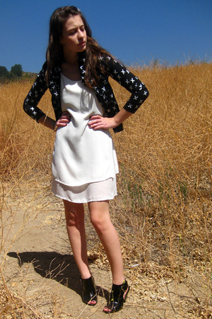 Ebay jacket - vintage dress - f21 shoes