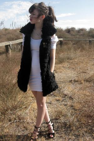 American Apparel dress - Zara vest - newport-newscom shoes - Nashuabigcartelcom