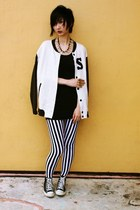 H&M jacket - From Seoul Korea leggings - cotton on top - Converse sneakers