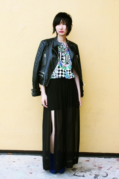 Zara jacket - Rubi On boots - Zara skirt