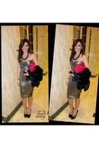 Bebe dress - YSL Trib heels