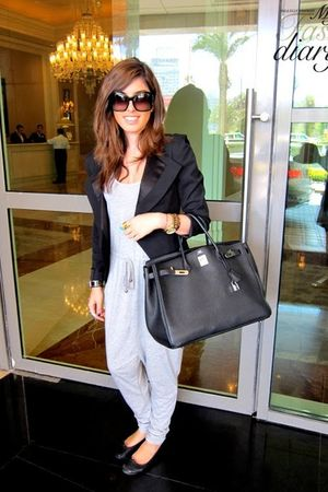 H&M suit - Repetto shoes - Hermes bag