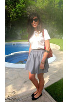 American Apparel skirt - Repetto shoes - D&G shirt - Chanel bag