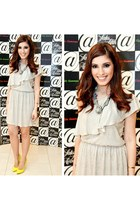 In Love with Fashion dress - shourouk necklace - Topshop heels