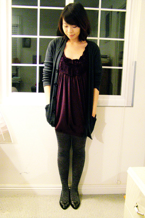 Urban Outfitters top - Target tights - American Apparel sweater - Isaac Mizrahi