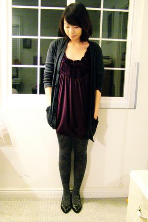 Urban Outfitters top - Target tights - American Apparel sweater - Isaac Mizrahi
