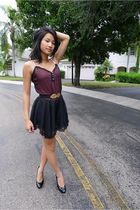 gold H&M belt - black Mossimo shoes - black Urban Outfitters dress - pink banana