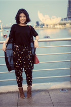 Topshop pants - Louis Vuitton bag - ASH sneakers - French Connection UK cardigan