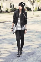UO shoes - H&M jacket - H&M leggings - H&M shirt - kensie purse