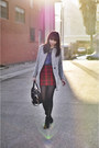 Blue-campfire-madewell-shirt-ruby-red-tartan-missguided-skirt