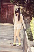 Cotton Candy shirt - H&M shorts - Nasty Gal X Minkpink socks