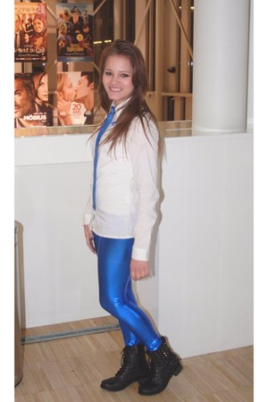 black spike boots Sergio Todzi boots - blue Kiloshow leggings