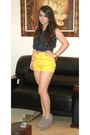 Yellow-forever-21-shorts