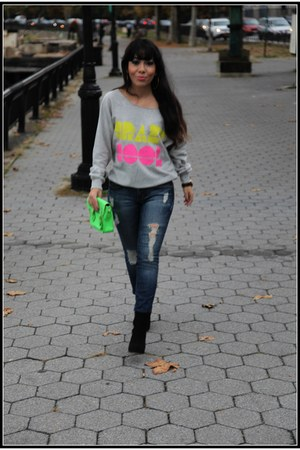 Forever21 sweatshirt - ripped dylan george jeans
