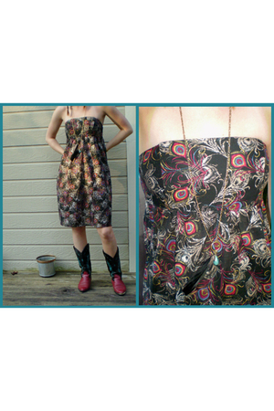 charlotte rousse dress - thrifted boots