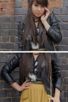 American Apparel skirt - Primark jacket - t-shirt - American Apparel belt