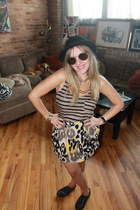 thrifted vintage hat - H&M shoes - Target top - Forever 21 skirt - Movado watch