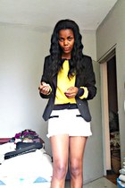 black RebelSeal blazer - yellow RebelSeal shirt