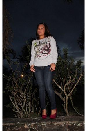 Old Navy rock star jeans - cotton PROENZA SCHOULER sweatshirt - Mossimo heels