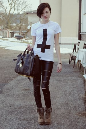 shirt shirt - leggins leggings - Bag bag