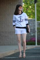 Zara shorts - Juicy Couture sweater - Juicy Couture sunglasses - Zara heels